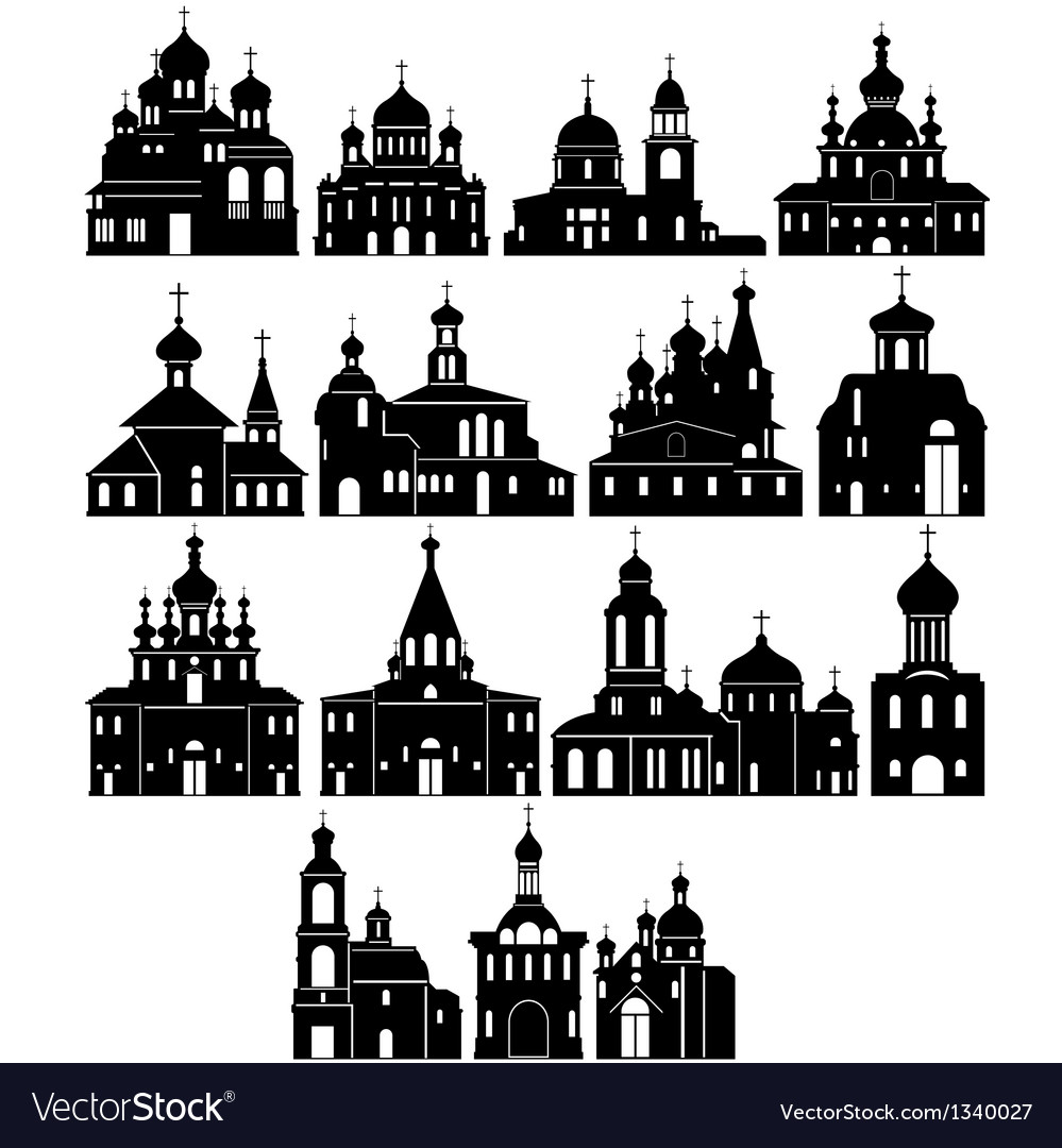 The contour of the church vector | Price: 1 Credit (USD $1)