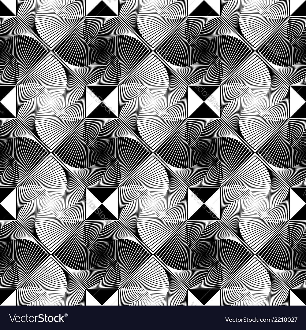 Design seamless monochrome decorative pattern vector   Price: 1 Credit (USD $1)