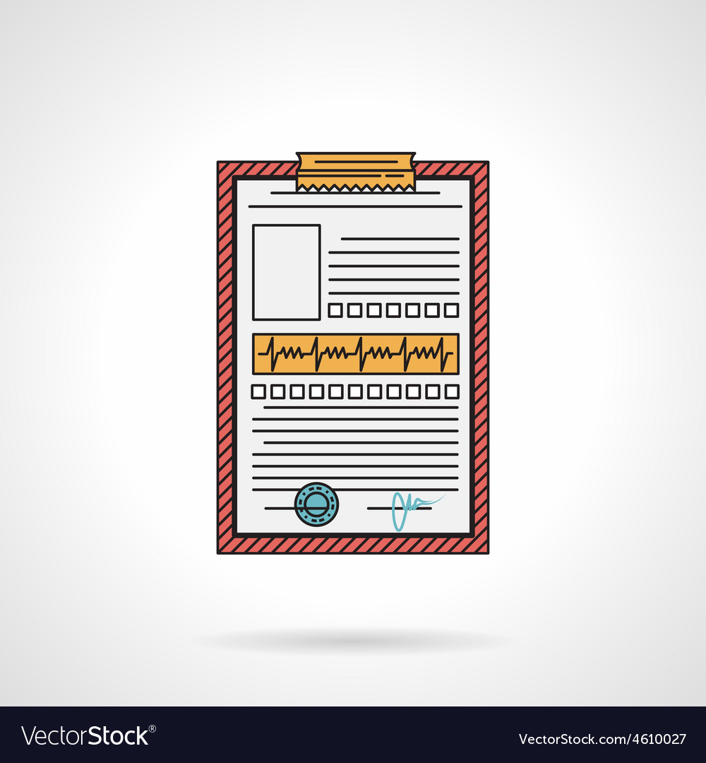 Medical history flat icon vector | Price: 1 Credit (USD $1)