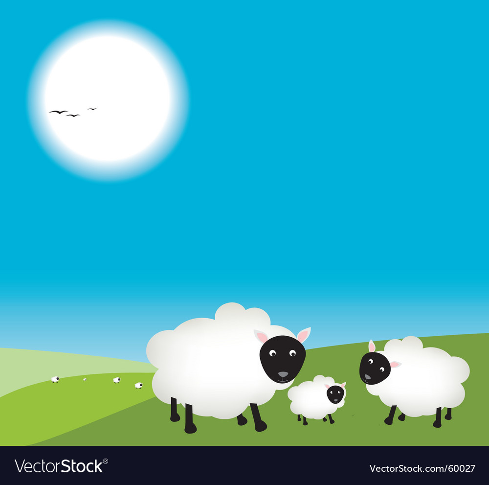 Mum and dad sheep vector | Price: 1 Credit (USD $1)
