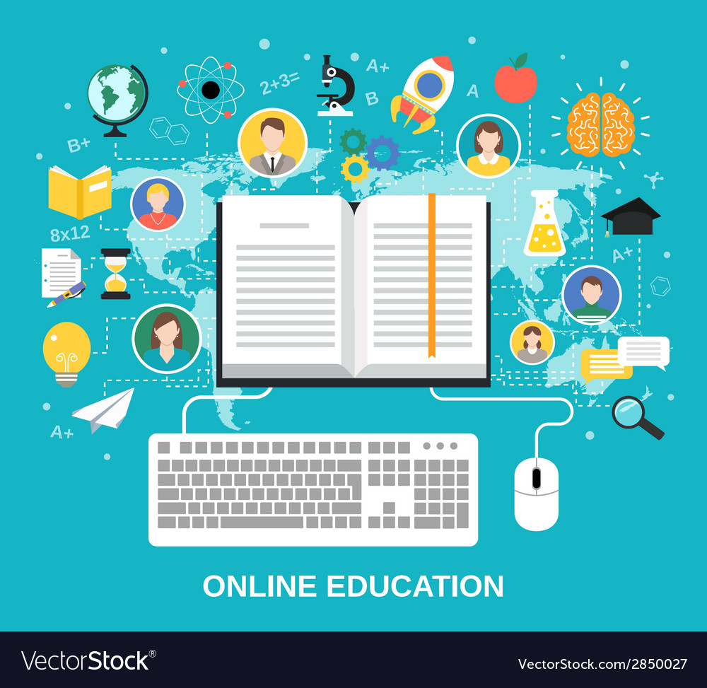 Online education concept vector   Price: 1 Credit (USD $1)