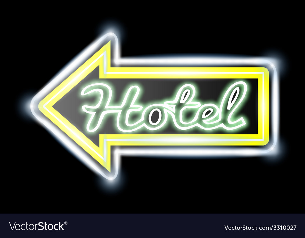 Retro american neon motel roadsign vector | Price: 1 Credit (USD $1)
