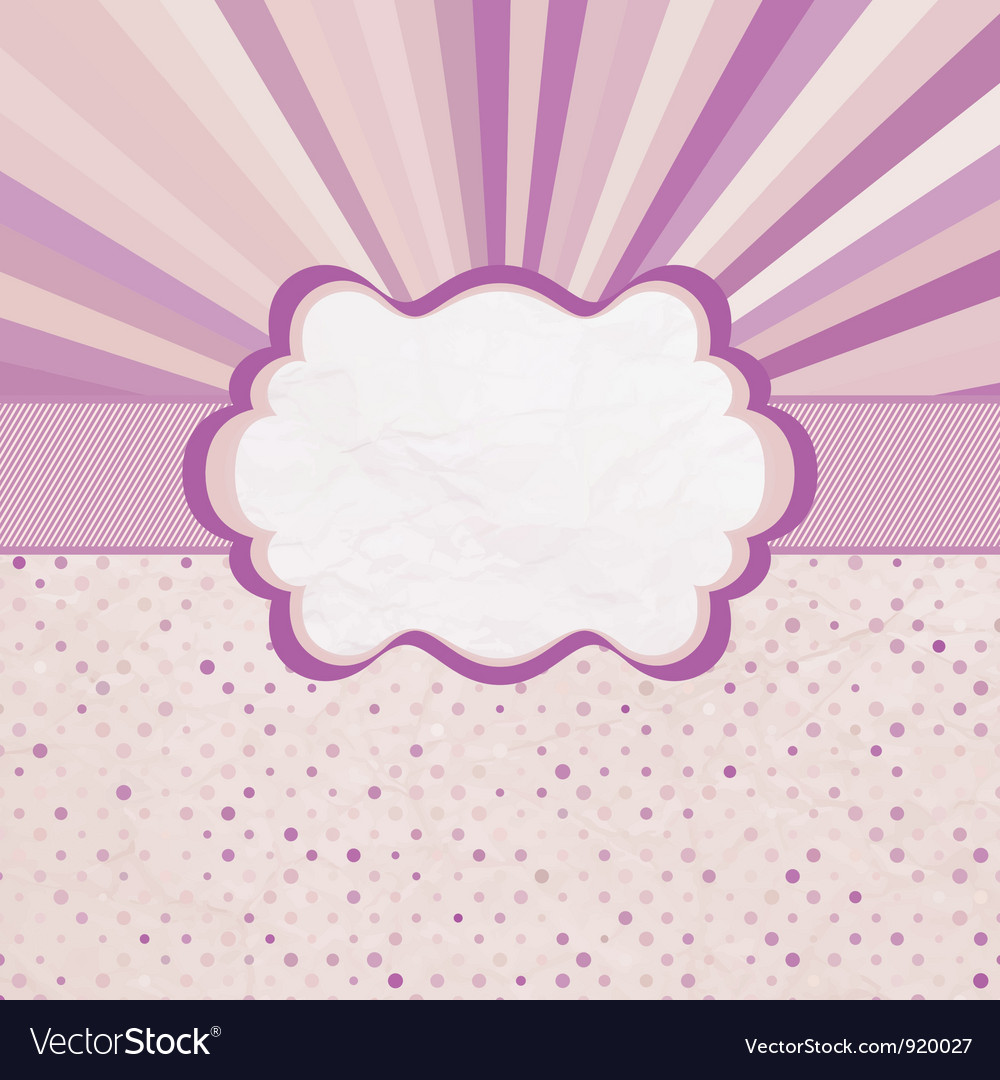 Retro sun burst pattern card vector | Price: 1 Credit (USD $1)