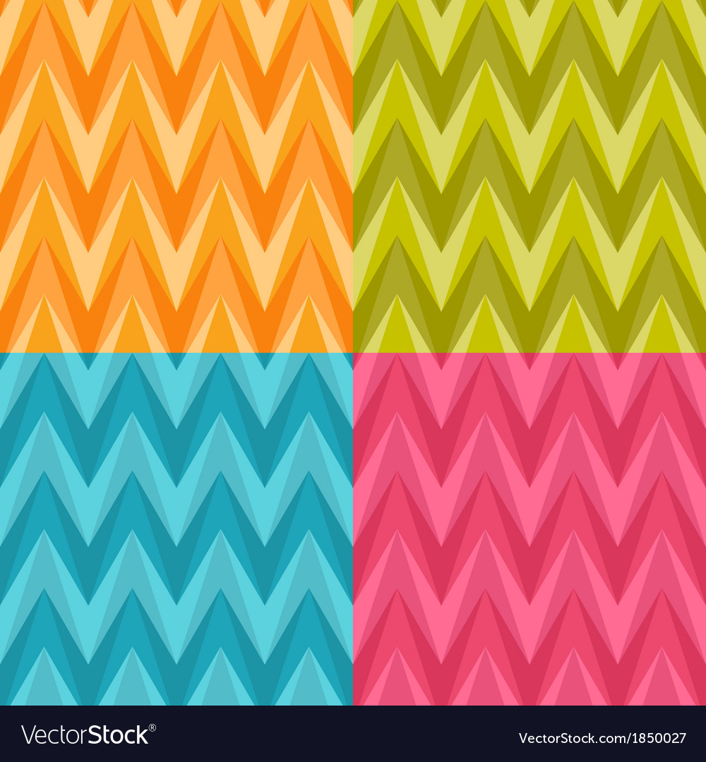 Set of four seamless color abstract retro vector | Price: 1 Credit (USD $1)