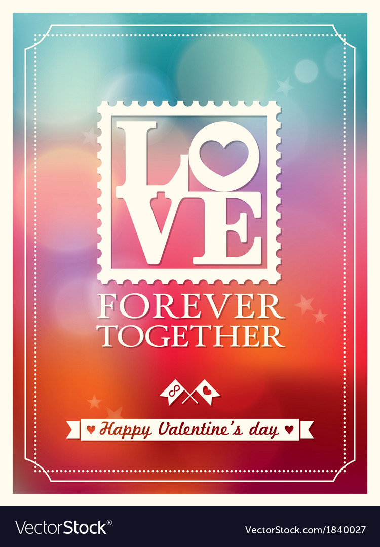 Valentines day love word bokeh background vector | Price: 1 Credit (USD $1)