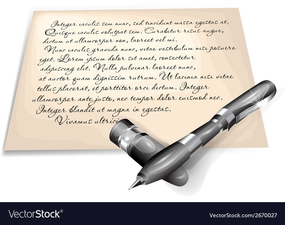Written letter vector | Price: 1 Credit (USD $1)
