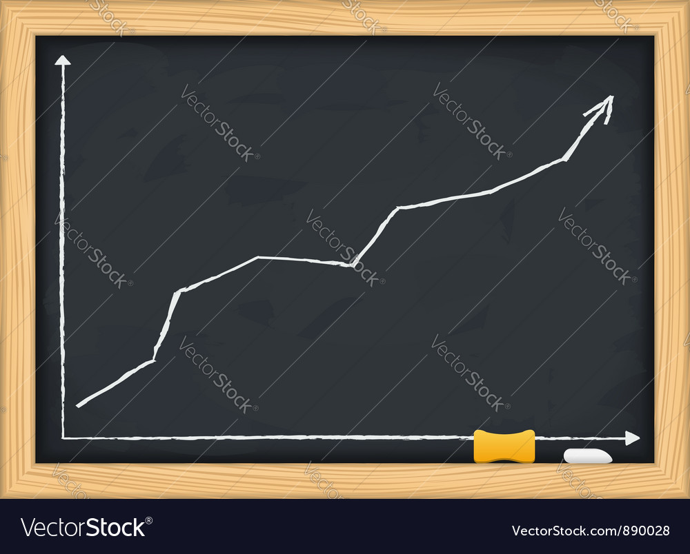 Blackboard with growing arrow vector | Price: 1 Credit (USD $1)