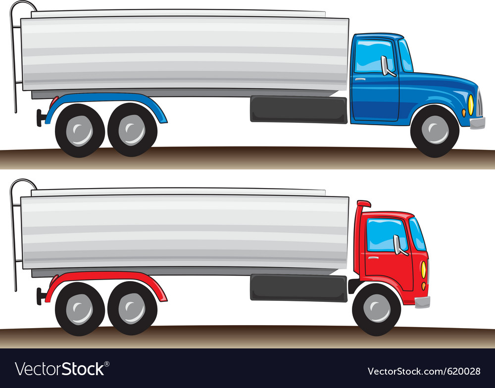 Cartoon tanker truck vector | Price: 1 Credit (USD $1)