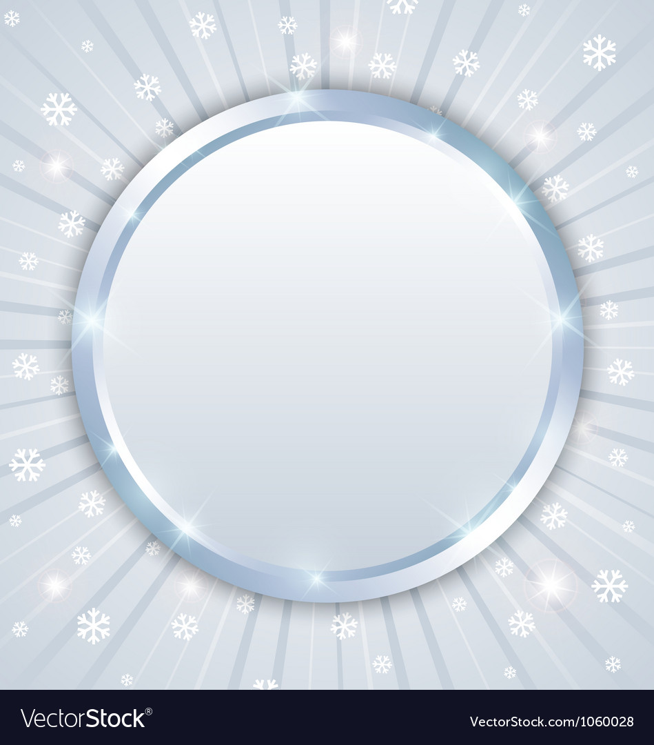 Christmas winter plaque vector | Price: 1 Credit (USD $1)