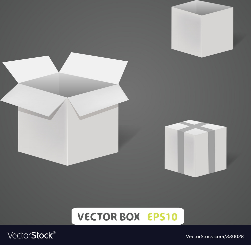 Empty box on a grey background a vector | Price: 1 Credit (USD $1)