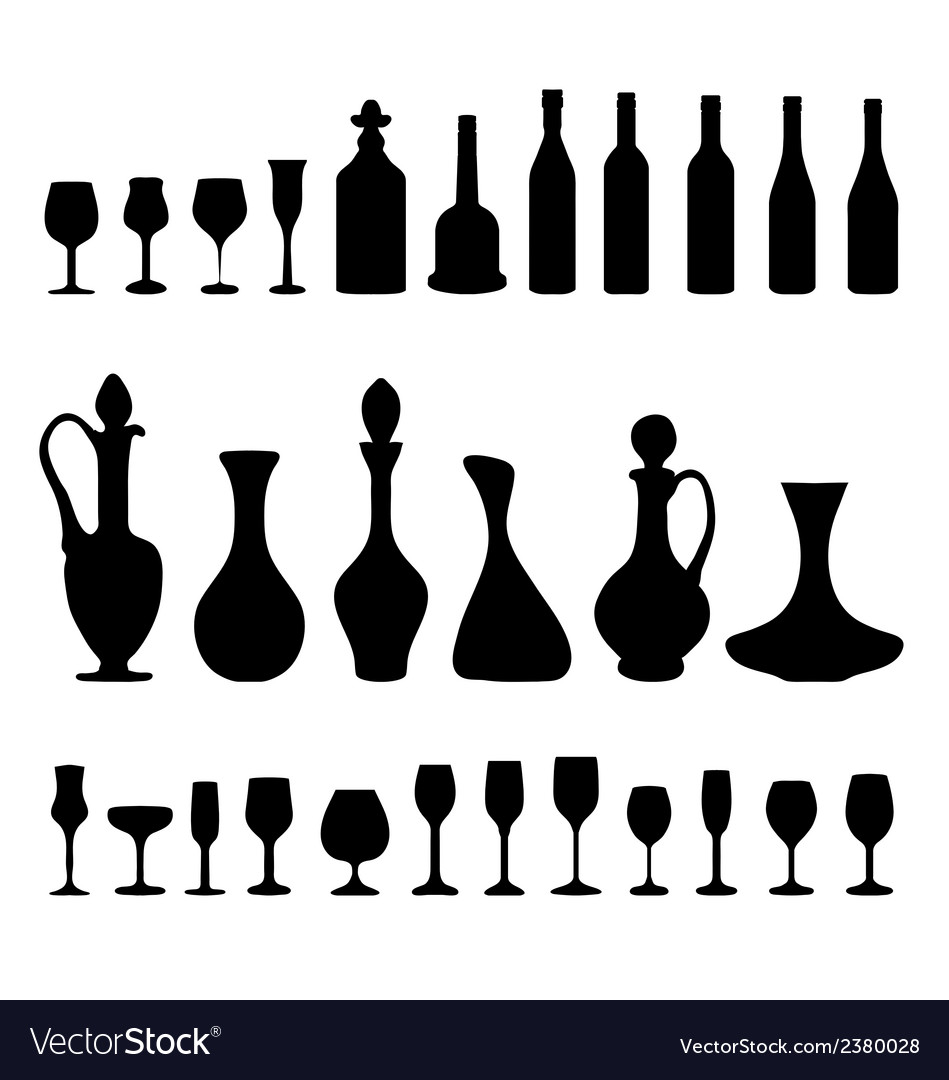 Glasses and bottles 3 vector | Price: 1 Credit (USD $1)