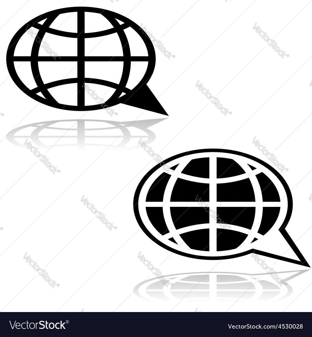 Global talk vector | Price: 1 Credit (USD $1)
