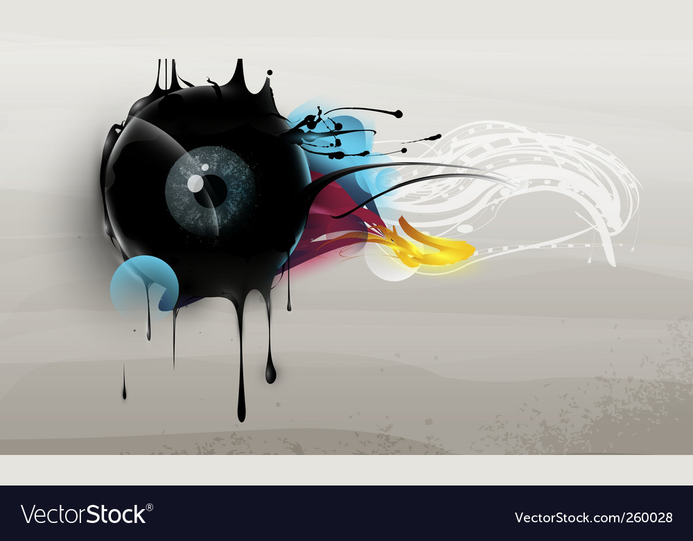 Human eye abstract vector | Price: 1 Credit (USD $1)