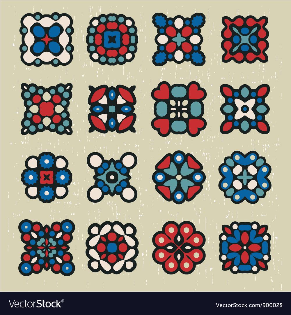 Kaleidoscopic icons vector | Price: 1 Credit (USD $1)