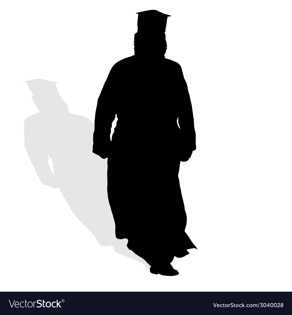 Priest silhouette vector | Price: 1 Credit (USD $1)