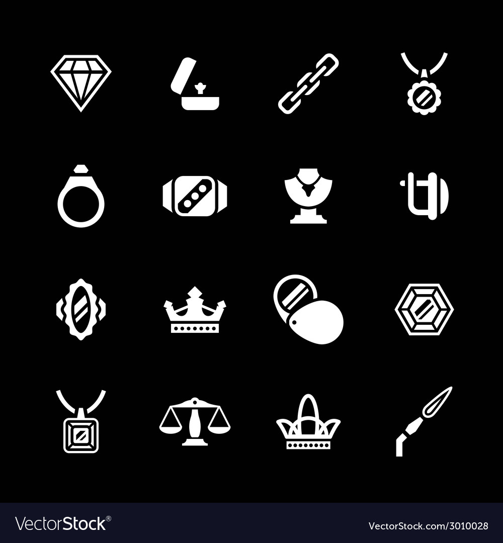 Set icons of jewelry vector | Price: 1 Credit (USD $1)