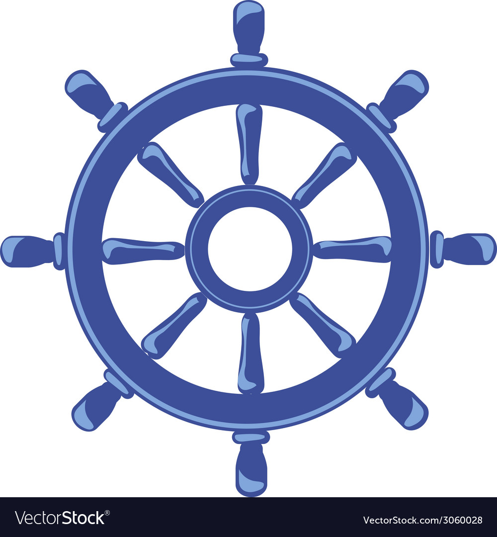Ship wheel banner isolated on white background vector   Price: 1 Credit (USD $1)