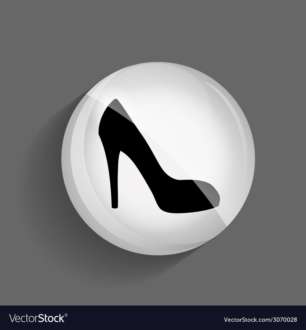 Shoes glossy icon vector | Price: 1 Credit (USD $1)