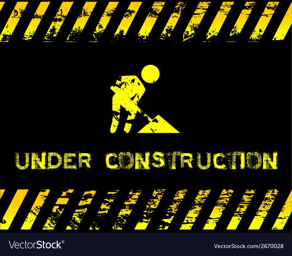 Under construction  grunge with icon vector