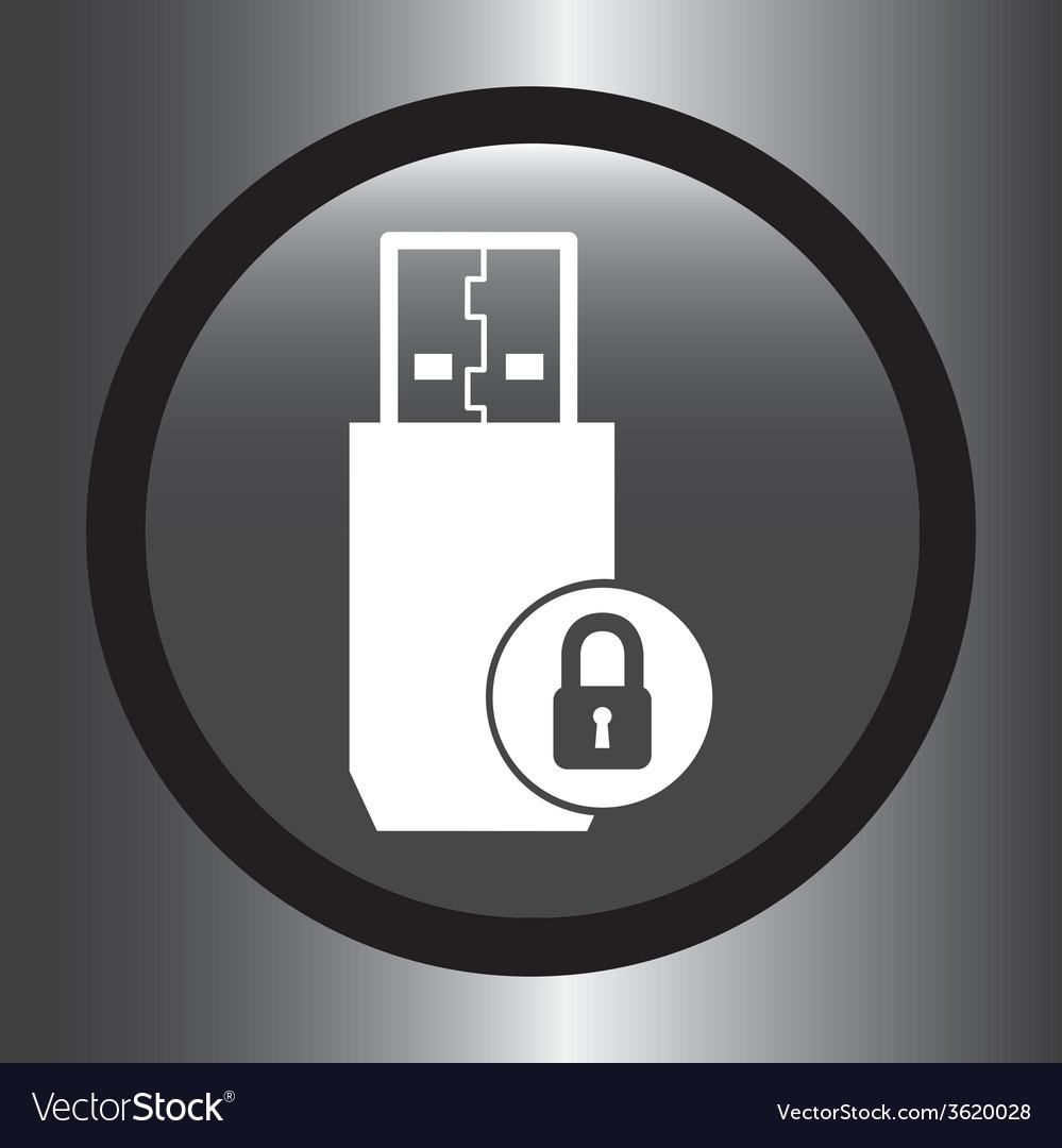 Usb icon vector | Price: 1 Credit (USD $1)