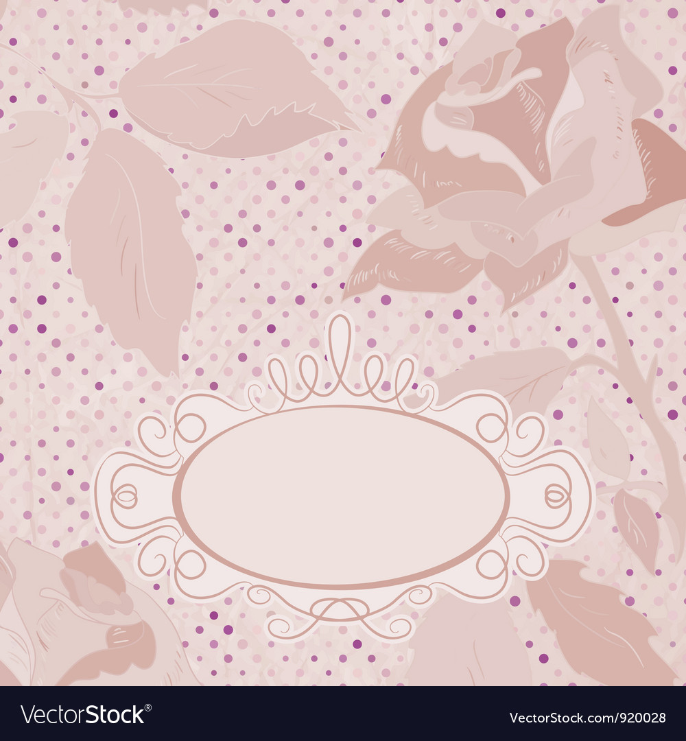 Vintage floral roses card vector | Price: 1 Credit (USD $1)