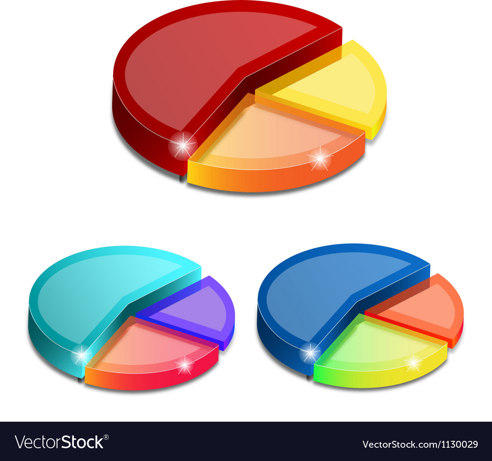3d pie graph vector | Price: 1 Credit (USD $1)