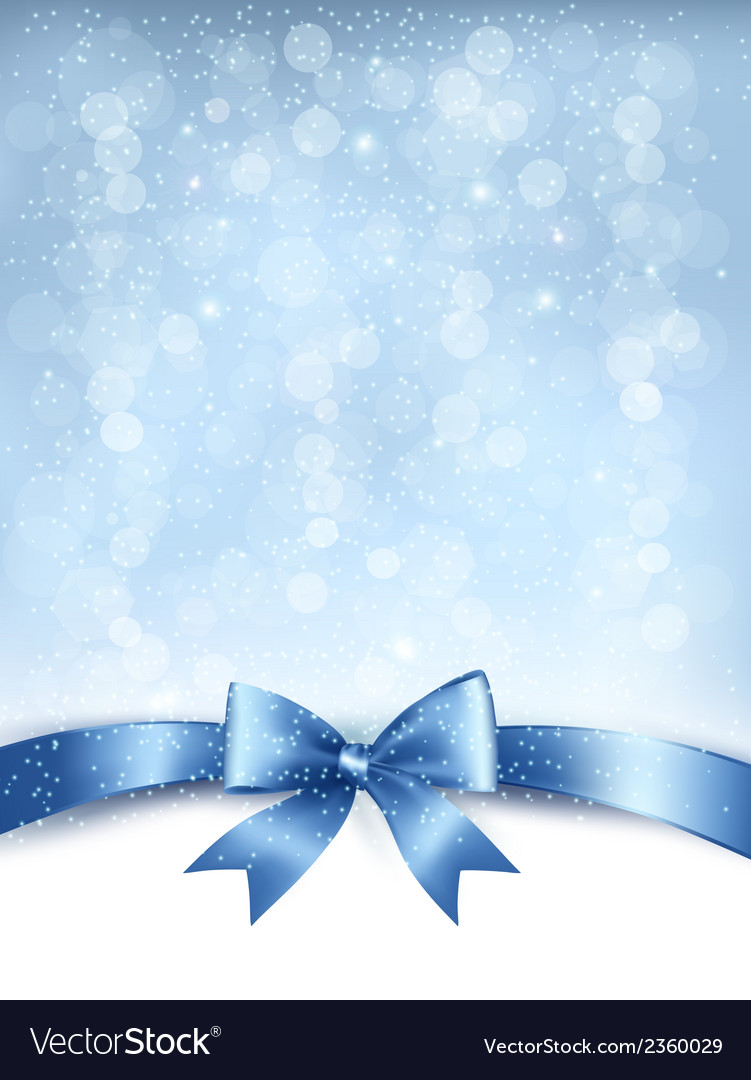 Blue elegant holiday background with gift bow and vector | Price: 1 Credit (USD $1)