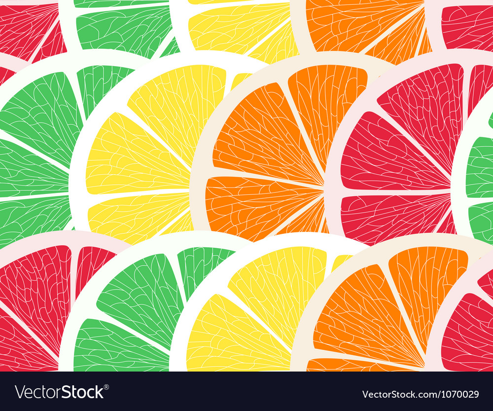 Citrus assorted seamless background vector | Price: 1 Credit (USD $1)
