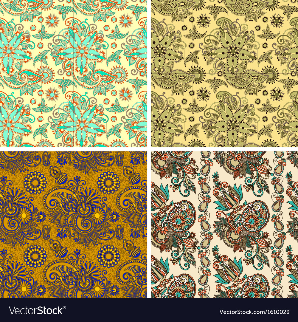Collection of seamless wallpaper background vector | Price: 1 Credit (USD $1)