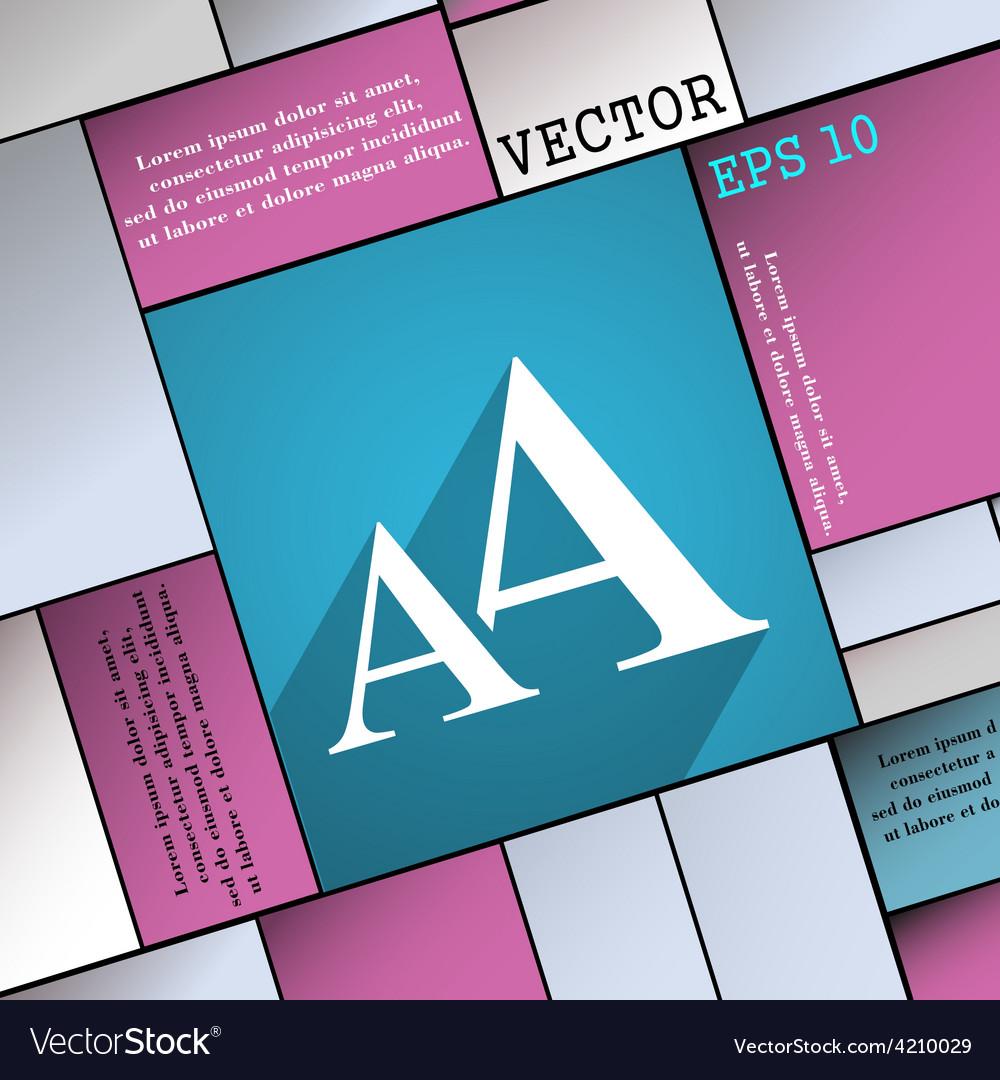 Enlarge font aa icon symbol flat modern web design vector | Price: 1 Credit (USD $1)