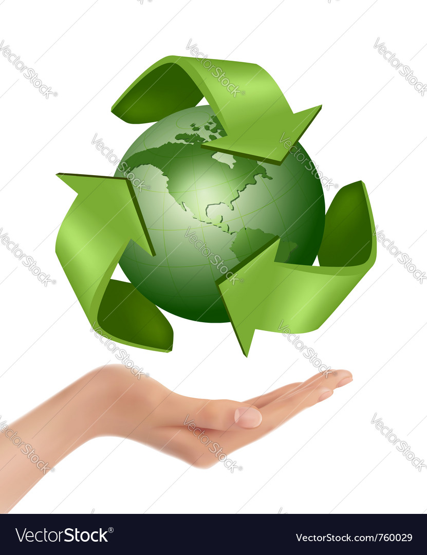 Green earth globe vector | Price: 1 Credit (USD $1)