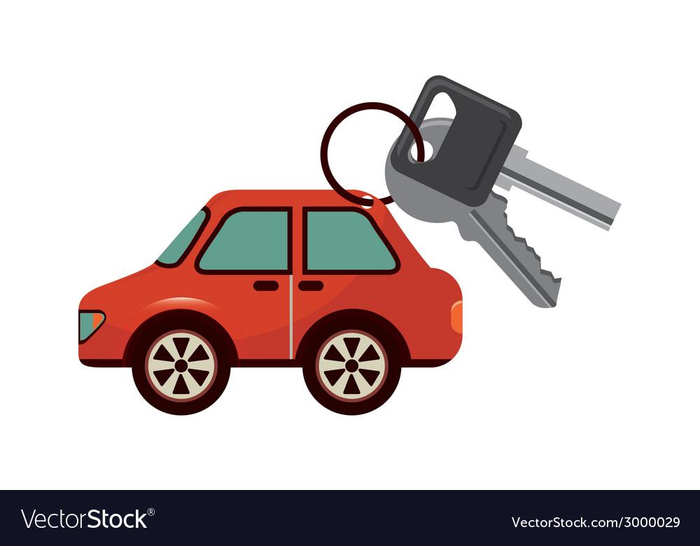 Key car design vector | Price: 1 Credit (USD $1)