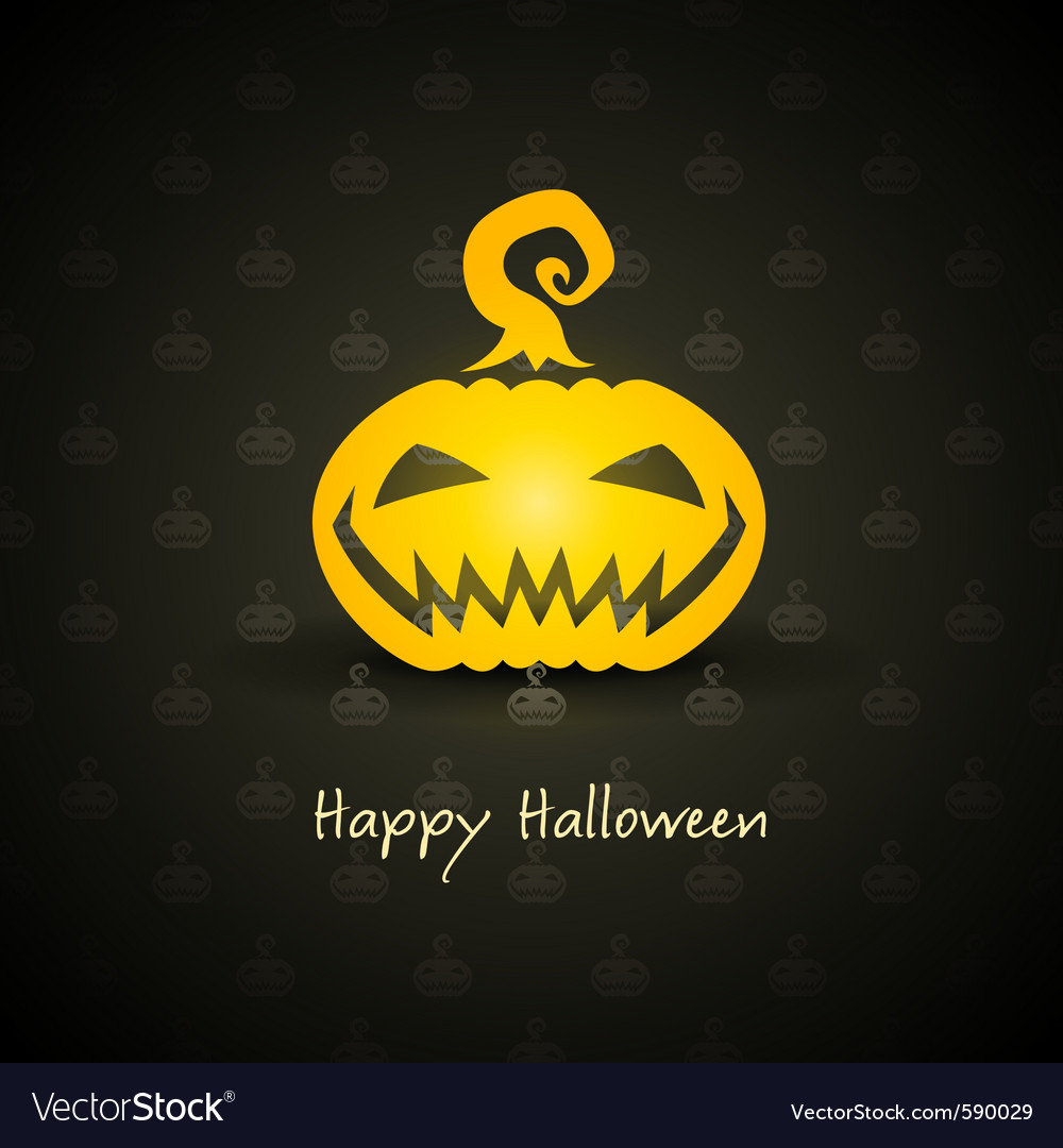 Pumpkin for halloween vector | Price: 1 Credit (USD $1)