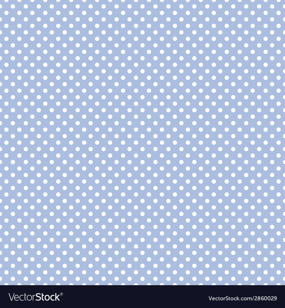 Tile pattern white polka dots on blue background vector | Price: 1 Credit (USD $1)