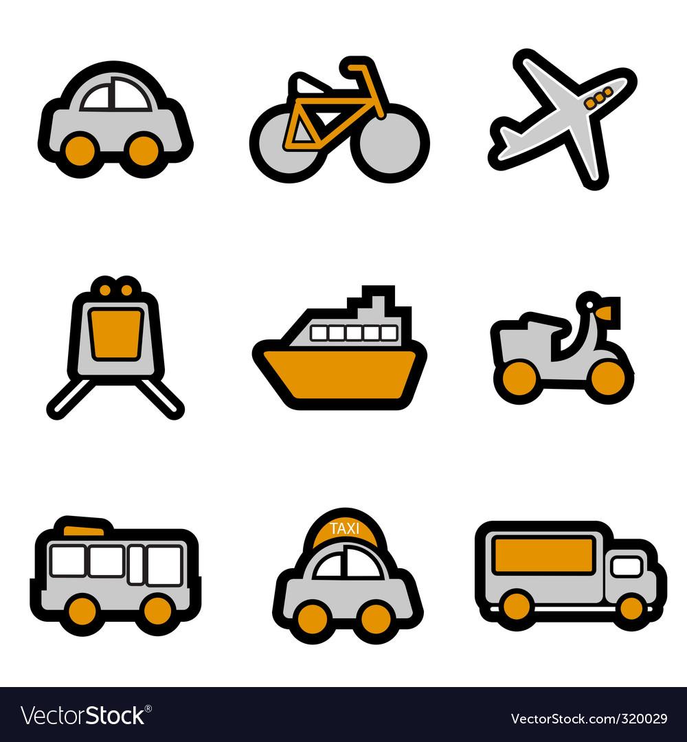 Vehicles icon vector | Price: 1 Credit (USD $1)