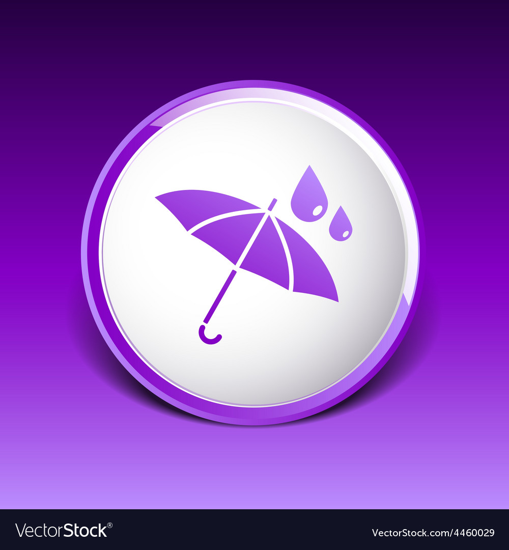 Waterproof icon water proof symbol umbrella vector | Price: 1 Credit (USD $1)