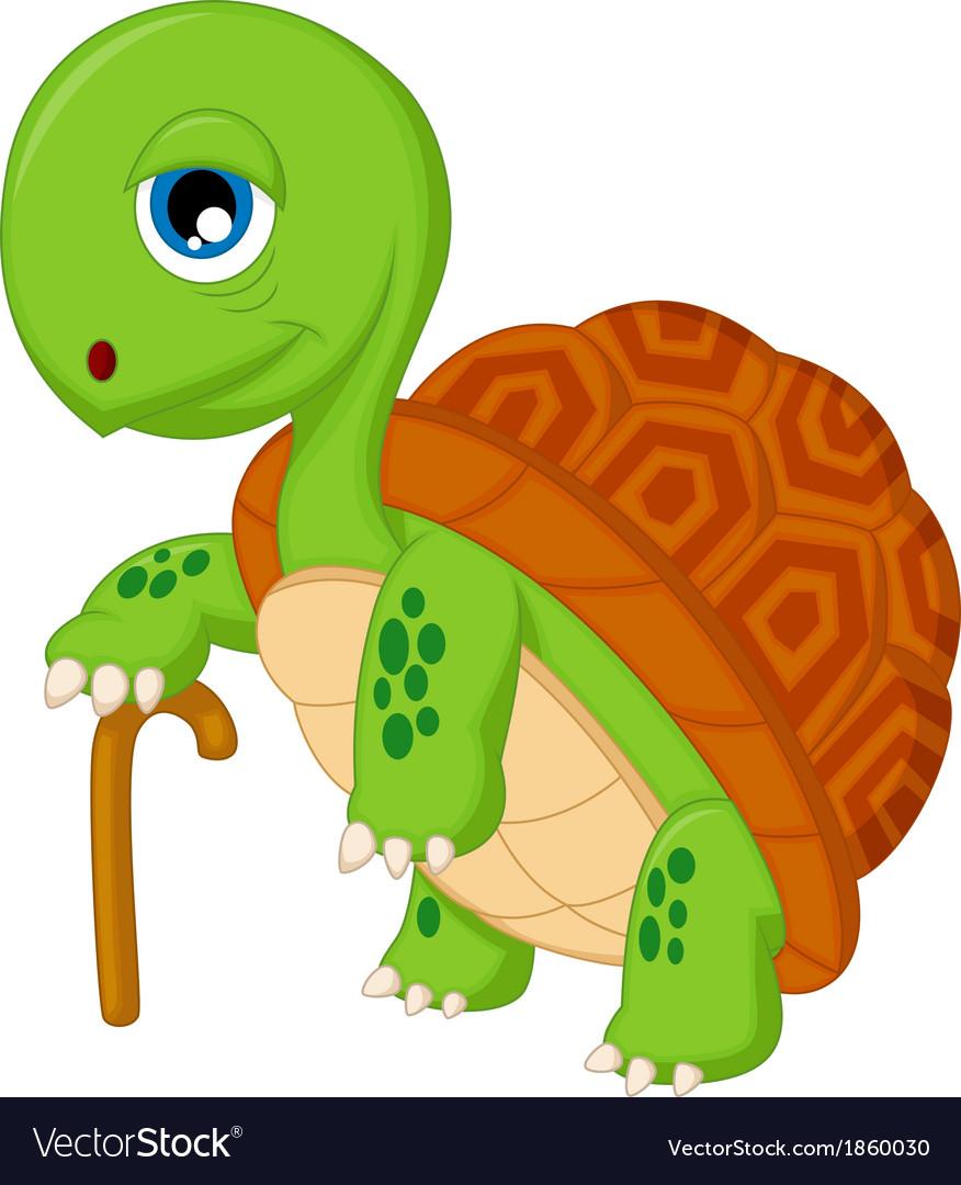 Cartoon elderly tortoise vector | Price: 1 Credit (USD $1)