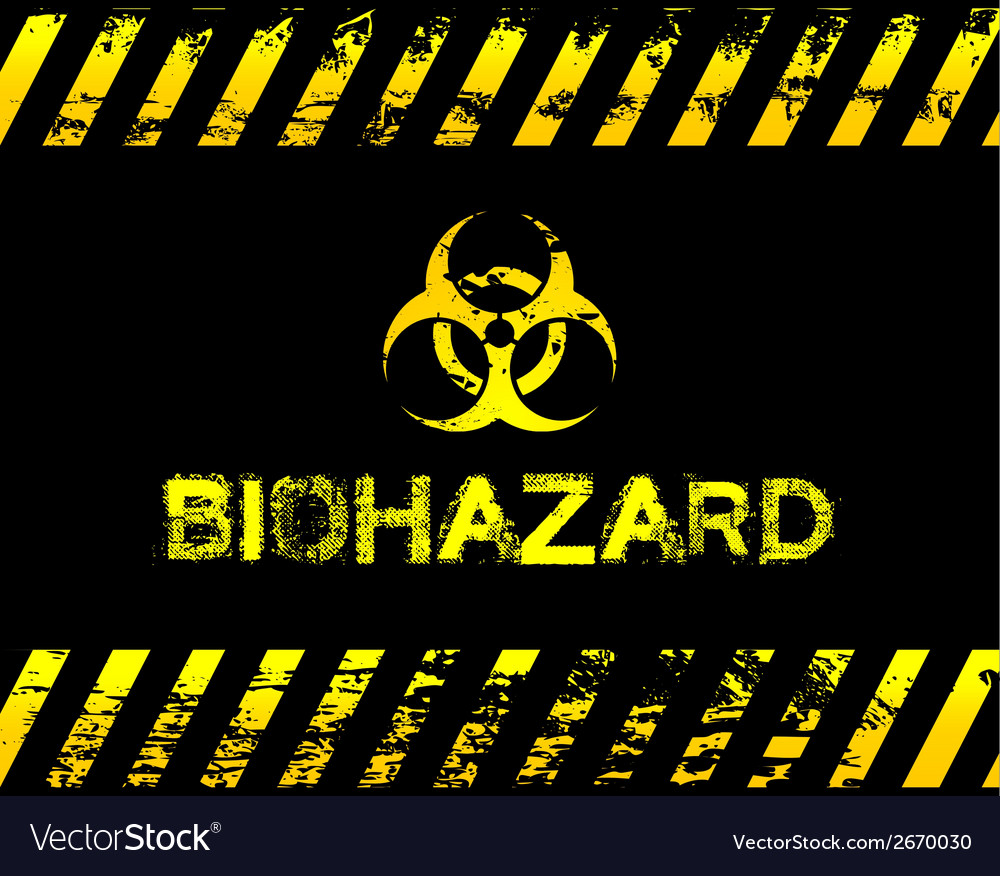 Grunge biohazard vector | Price: 1 Credit (USD $1)