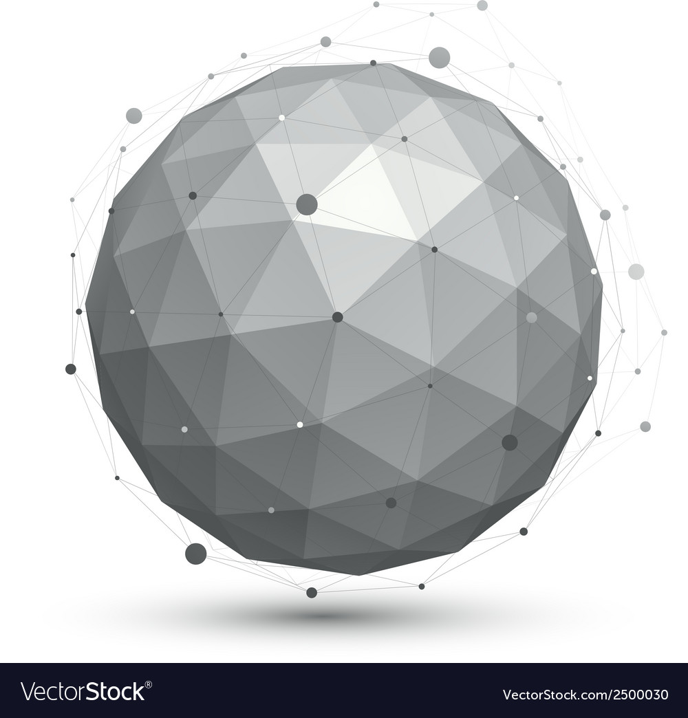 Modern digital technology ball abstract unusual vector | Price: 1 Credit (USD $1)