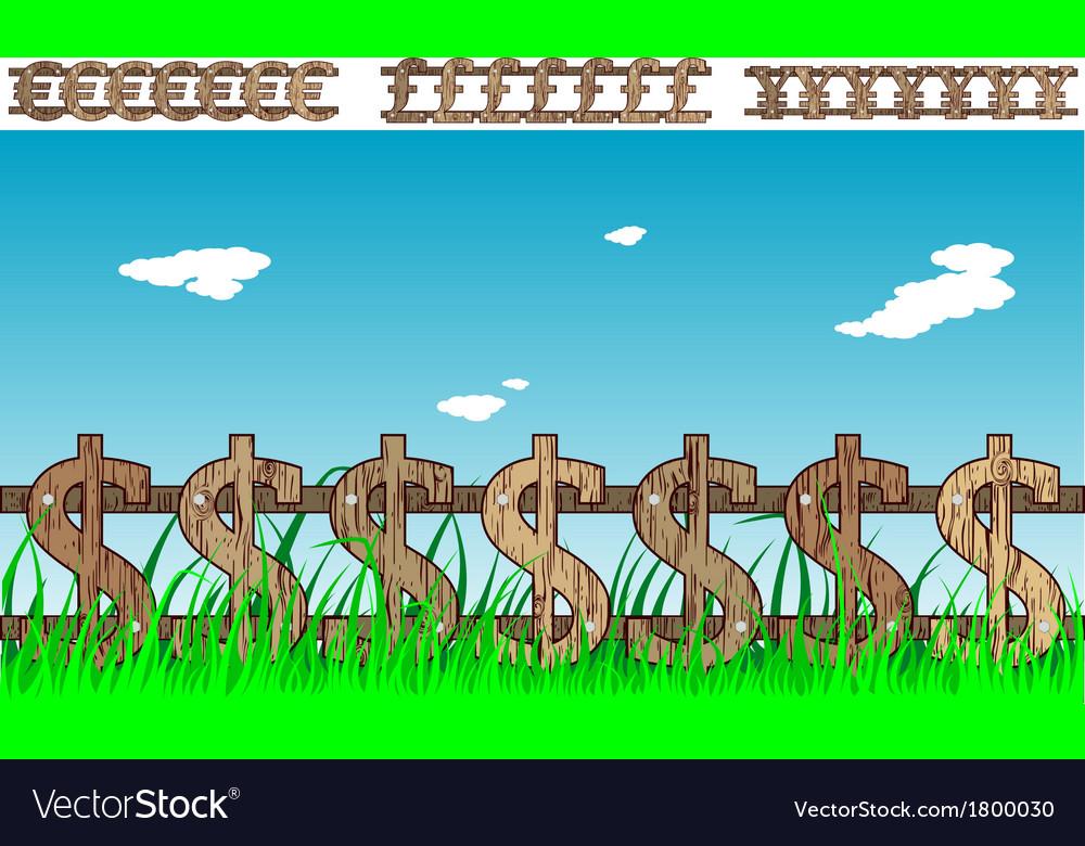 Money fence vector | Price: 1 Credit (USD $1)