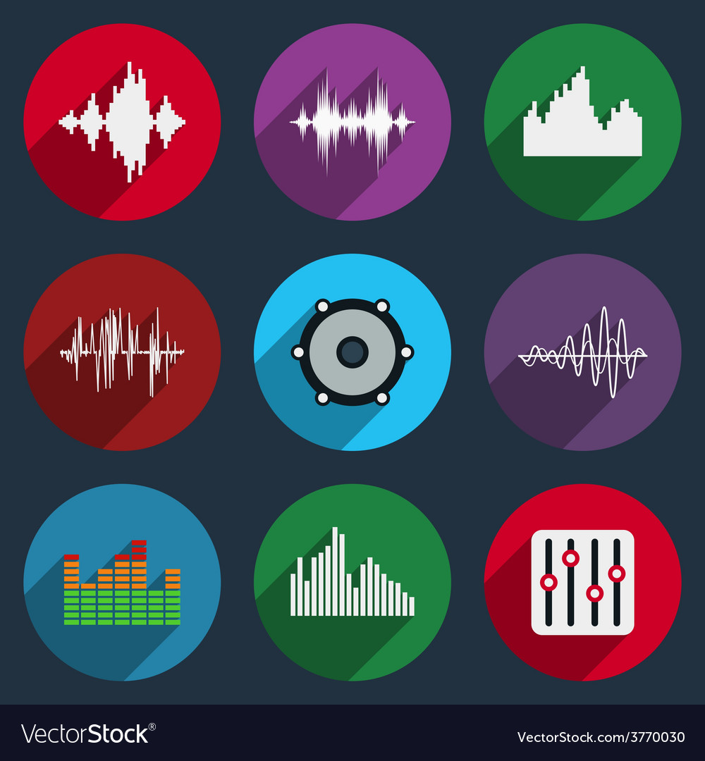 Music soundwave icons vector | Price: 1 Credit (USD $1)