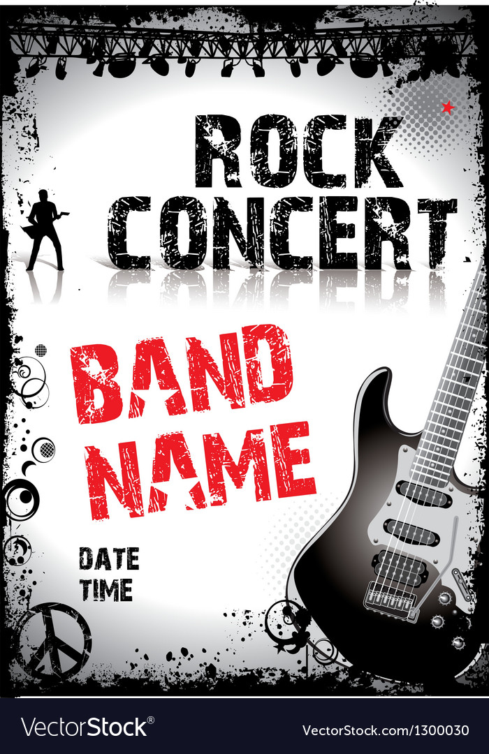 Rock-concert-poster vector | Price: 1 Credit (USD $1)