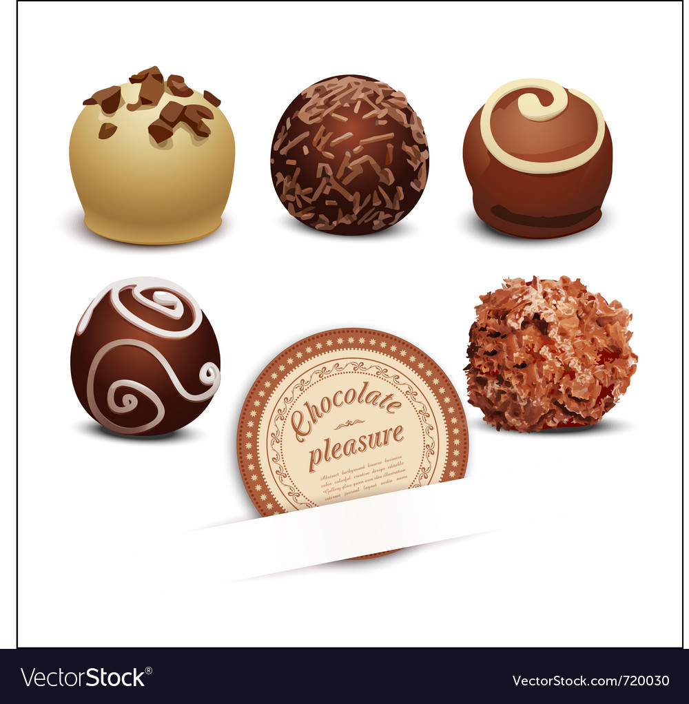 Set of chocolates vector | Price: 3 Credit (USD $3)