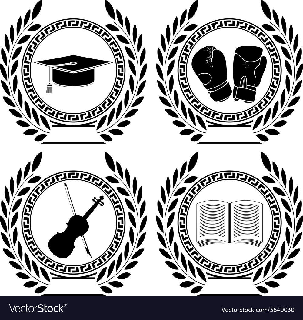 Set of symbols of achievement vector | Price: 1 Credit (USD $1)