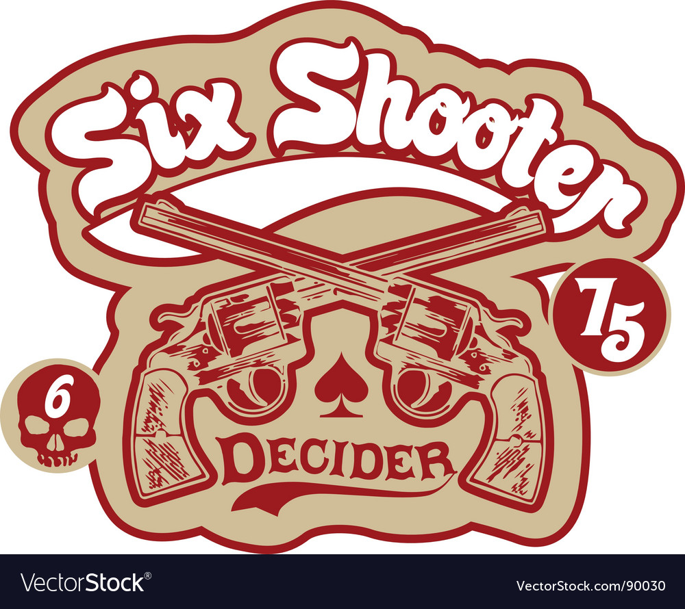 Six shooter vector | Price: 1 Credit (USD $1)