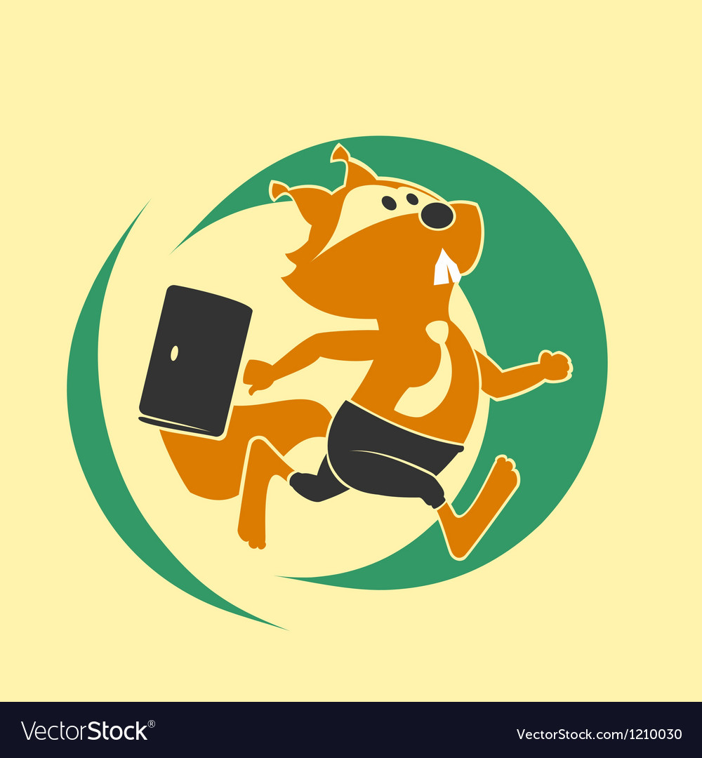 Squirrel run vector | Price: 1 Credit (USD $1)