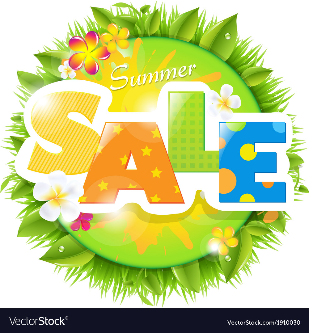 Summer sale design template vector | Price: 1 Credit (USD $1)