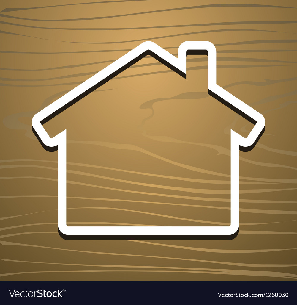 Wood house vector | Price: 1 Credit (USD $1)