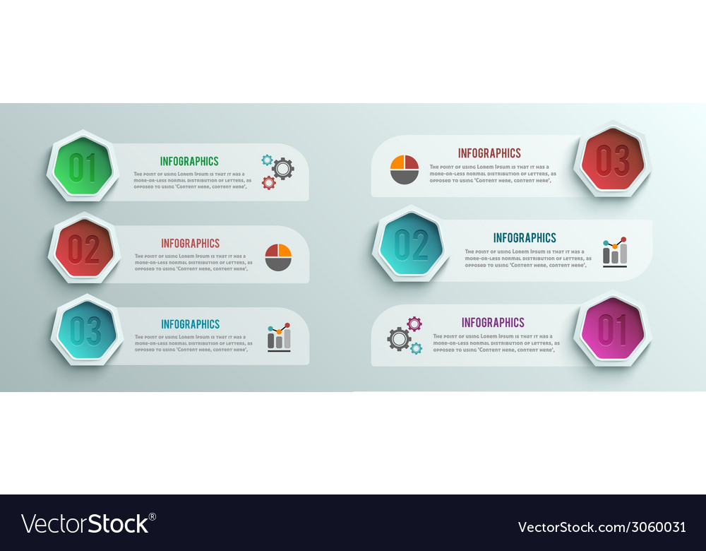 Business infographics banner origami style vector | Price: 1 Credit (USD $1)