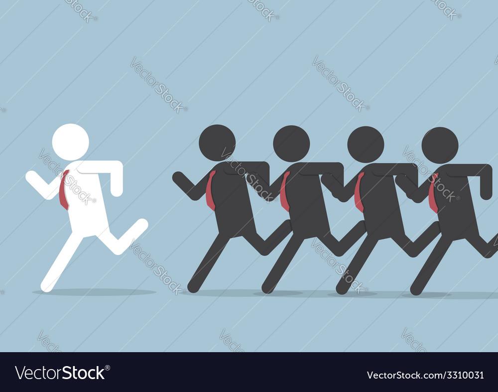 Businessman following leader vector | Price: 1 Credit (USD $1)
